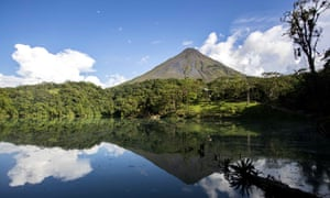 View of the Arenal volcano, one of the tourist attractions in La Fortuna de San Carlos area, north of San Jose, Costa Rica, 28 August 2020. EPA/Jeffrey Arguedas