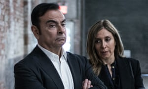 Former Nissan boss Carlos Ghosn with his wife Carole