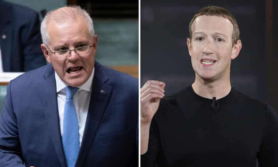 Scott Morrison and Mark Zuckerberg
