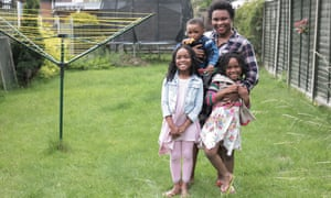 Mabel Owusu-Mensah and her children
