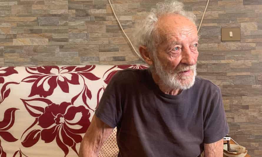 Mauro Morandi in his new home in La Maddalena