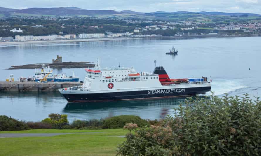 A ferry in Douglas, Isle of Man.