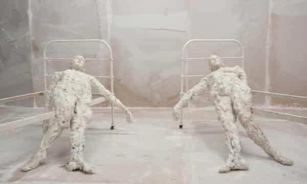 Virgile Ittah's work Echoué au seuil de la raison is on display at the exhibition.