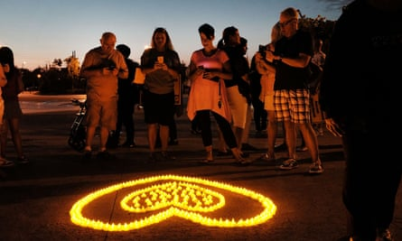 A candlelight vigil in Staten Island, New York, for victims of opioid addiction.