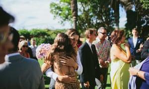 Violet Tregonning (left) and her sister Mel at Violet's wedding