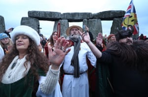 Winter solstice celebrated at Stonehenge in 2016.