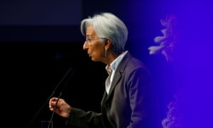 European Central Bank president Christine Lagarde attends the 29th Frankfurt European Banking Congress at the Old Opera house in Frankfurt, Germany.
