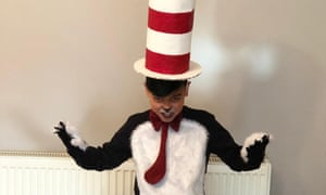 Raheem, 11, as the Cat in the Hat.