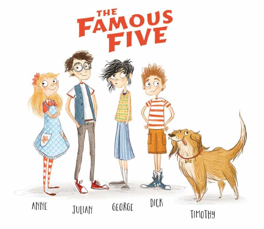 Famous Five book illustrations by Laura Ellen Anderson.