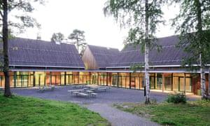 The Hegnhuset courtyard at Utøya