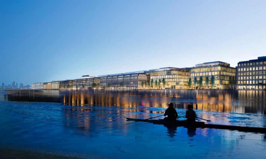 The planned Asian Business Park development at Royal Albert Dock.
