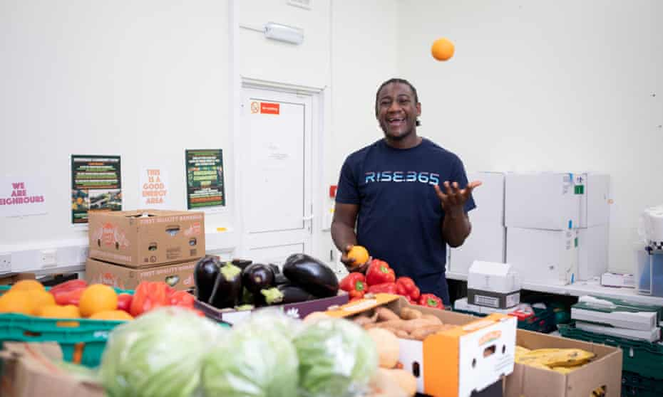 'I want to empower kids': Marvin Birch at his community supermarket.