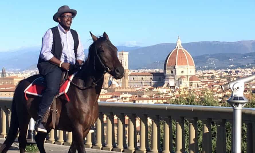 Like a feudal lord … the stars of BBC documentary A Fresh Guide to Florence with Fab 5 Freddy.