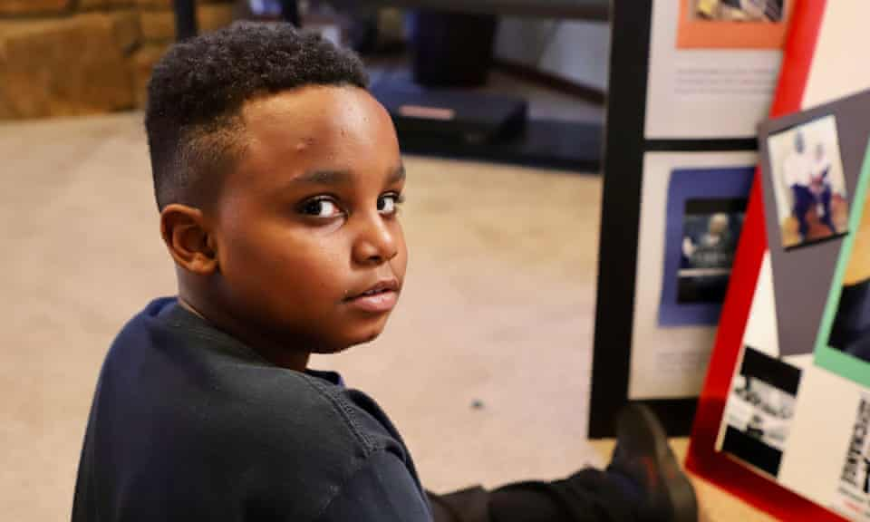 Terence Jr, the son of Terence Crutcher, who was shot and killed while standing near his vehicle on the street in Tulsa, Oklahoma, in 2016.