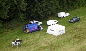 Harrowdown Hill, Oxfordshire, following the discovery of David Kelly's body