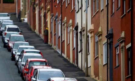 A row of houses in Blackburn