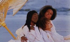 Viewed through the lens of 2017, one is struck by how it so magically balances obsolescence with afro-futurism ... the cast of Daughters of the Dust.