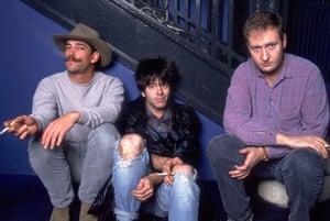 Greg Norton, Grant Hart and Bob Mould of Husker Du, October 1987.