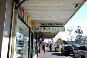The Happy African is one of a number of African stores near Douglas Street, Noble Park.