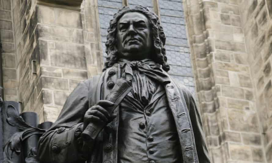 Statue of JS Bach in the courtyard of St Thomas Church in Leipzig, Germany, where he was organist and musical director.