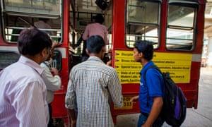 Public bus in India