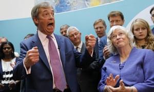 Nigel Farage at post-European election press event