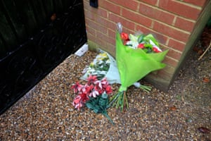 Flowers left outside the home of Sir Terry Wogan