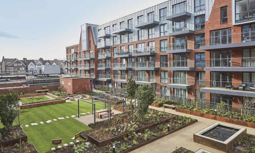 The gardens at London Square Streatham Hill. Since being contacted by the Guardian, the developer and Peabody Housing have pledged to desegregate the space.