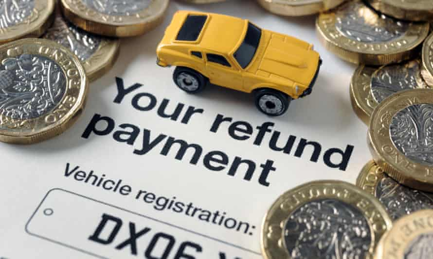 car, coins and refund form