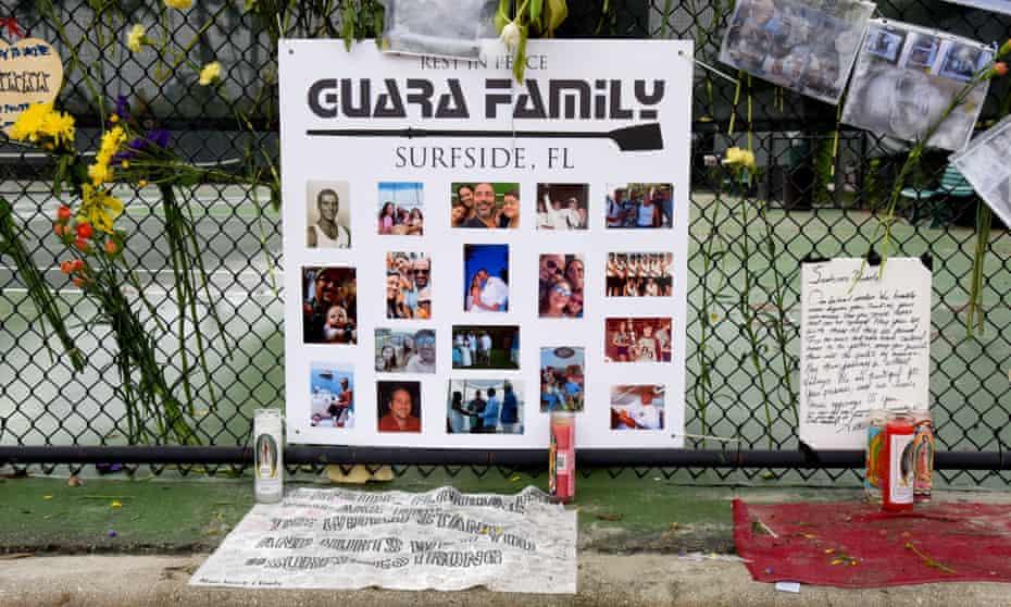 A memorial for the Guara family.