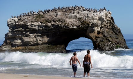 Santa Cruz sits on the northern lip of Monterey Bay, which is losing several feet of beach a year.