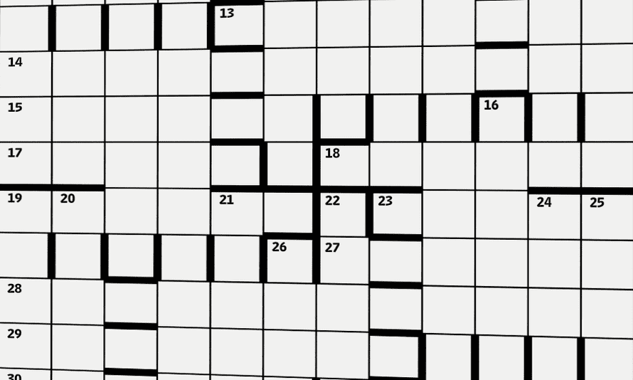 barred weekend puzzle grid
