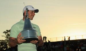 Rory McIlroy celebrates