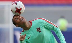 Cristiano Ronaldo during Portugal training on Saturday.