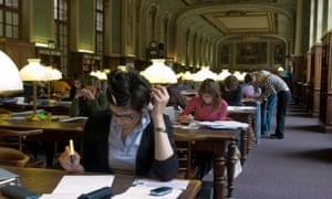 Students at the Sorbonne.