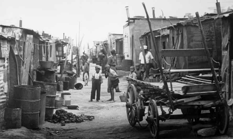 Sophiatown in 1955, when black South Africans were being forced out to southern townships.