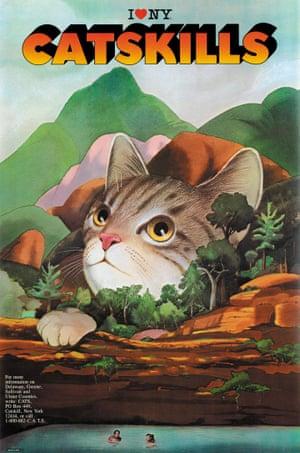 Catskills tourism poster by Milton Glaser