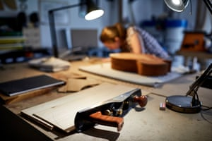A plane and other guitar-making tools