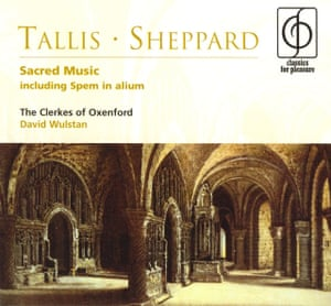A recording by the Clerkes of Oxenford of the music of Thomas Tallis and John Sheppard