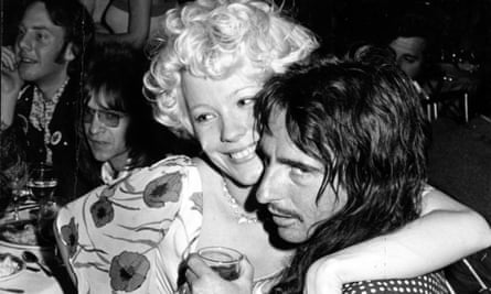Happy hour: Pamela Des Barres with Alice Cooper, Los Angeles, 1974.