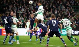 Christopher Jullien scores for Celtic against Lazio