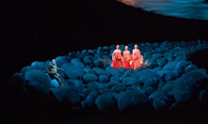 'Animals, opera is what makes us better than you, so go back to sniffing bushes' … Rheingold at the Bayreuth festival.
