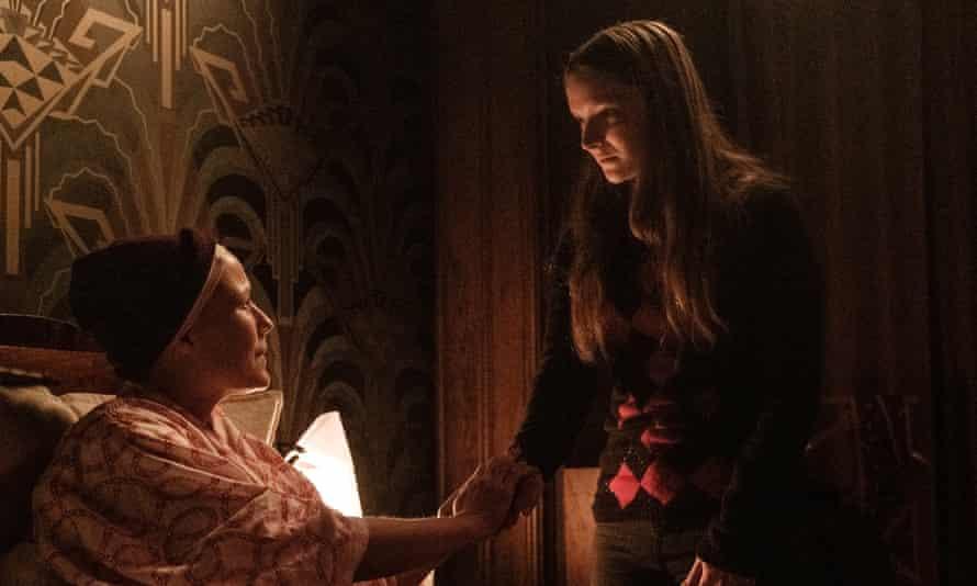 Nightmarish … Jennifer Ehle and Morfydd Clark in Saint Maud.