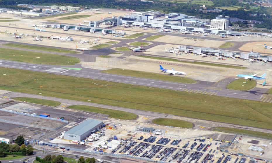 Aerial view of Gatwick airport