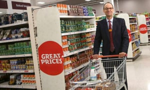 Sainsbury's chief executive Mike Coupe at a branch of the supermarket in London.