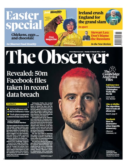 the Observer, 18 March 2018