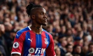 Wilfried Zaha was not at his best against Manchester City.