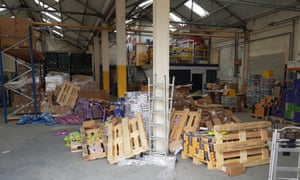 The Fairy Bricks warehouse after burglars broke in.