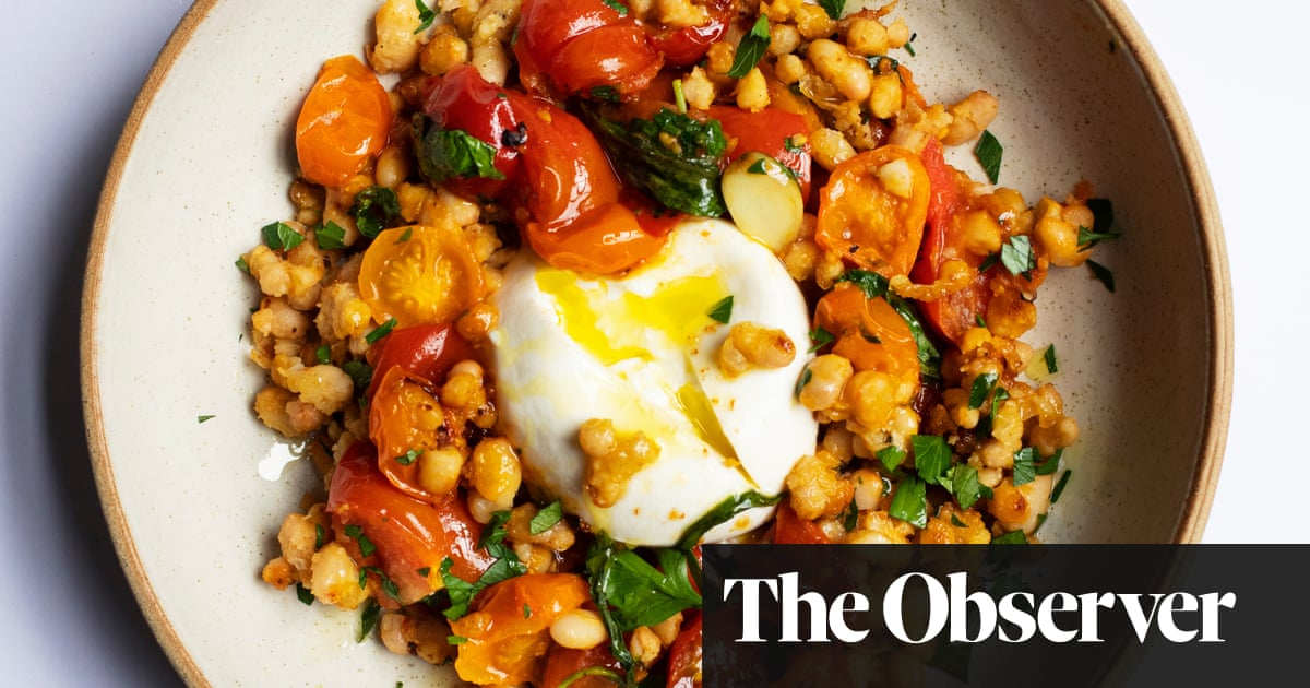 Nigel Slater's recipe for beans, burrata and tomatoes