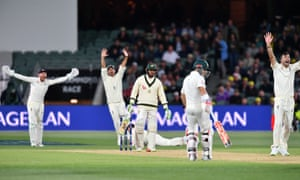 Englands players appeal for LBW against Usman Khawaja of Australia on Day 3 of the Second Test match.